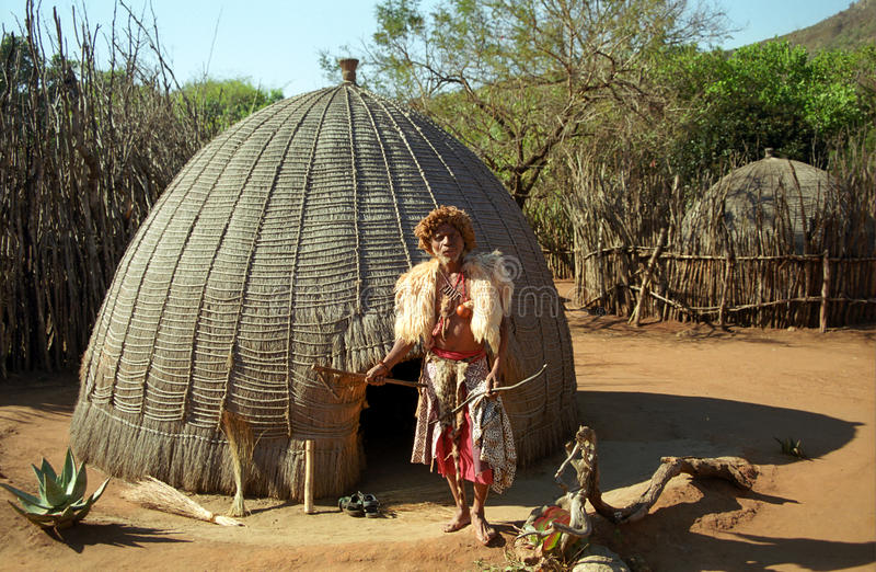 sangoma Σουαζηλάνδη mantenga στοκ φωτογραφία