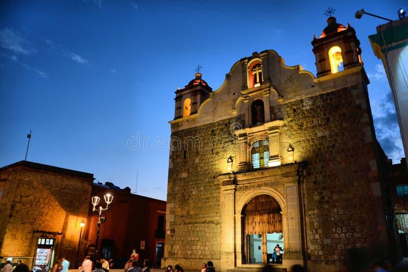 Sangre de Cristo Temple Oaxaca imagenes de archivo