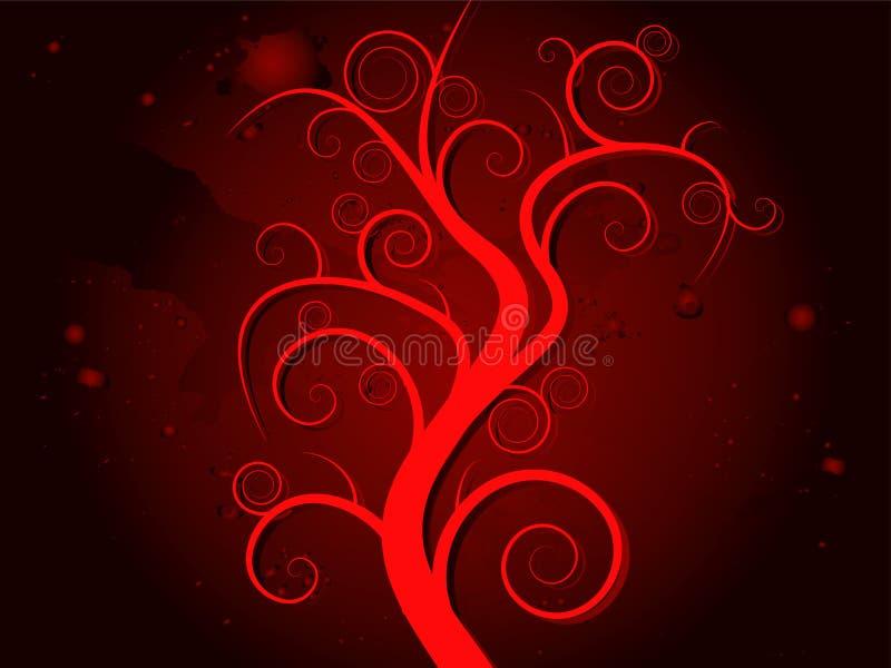 Sangre frecuentada del árbol ilustración del vector