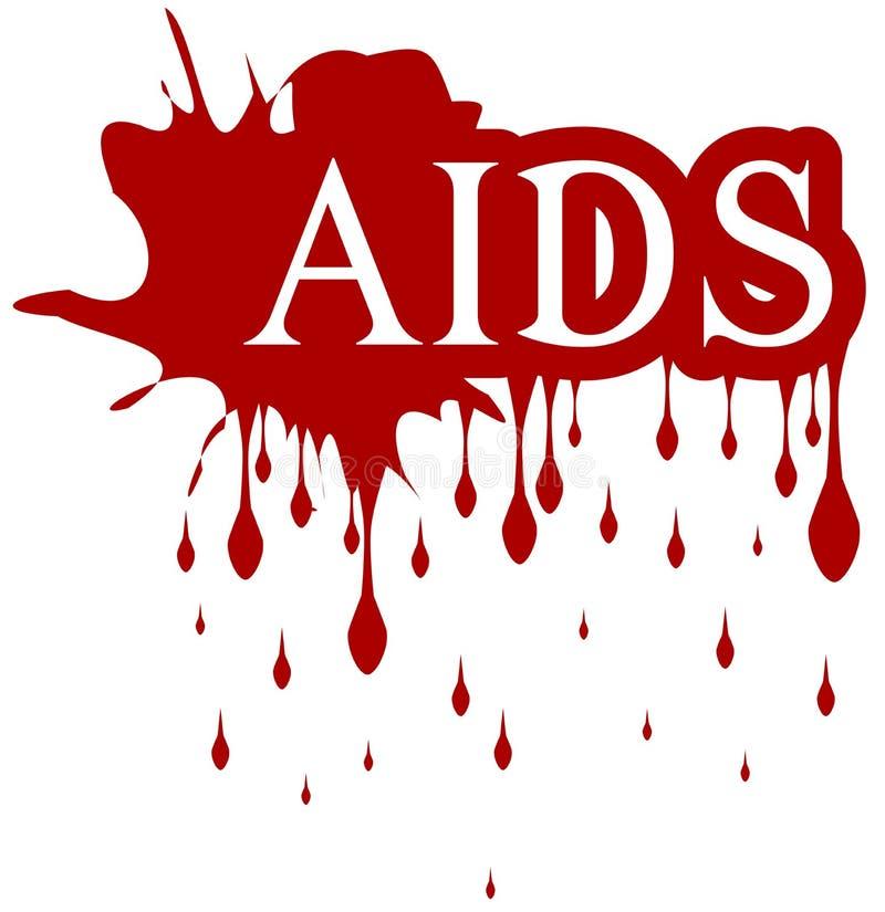 Sangre SIDA aislada del goteo de la palabra libre illustration