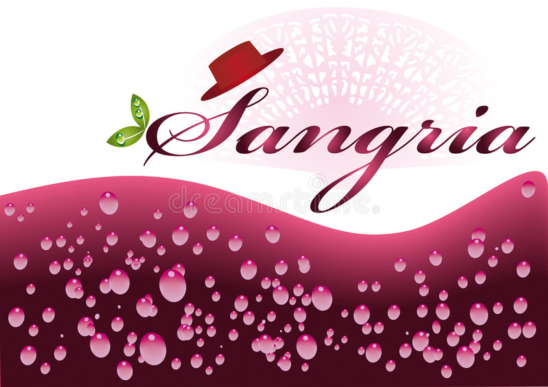 Sangria Typical Spanish refreshing drink. stock photography