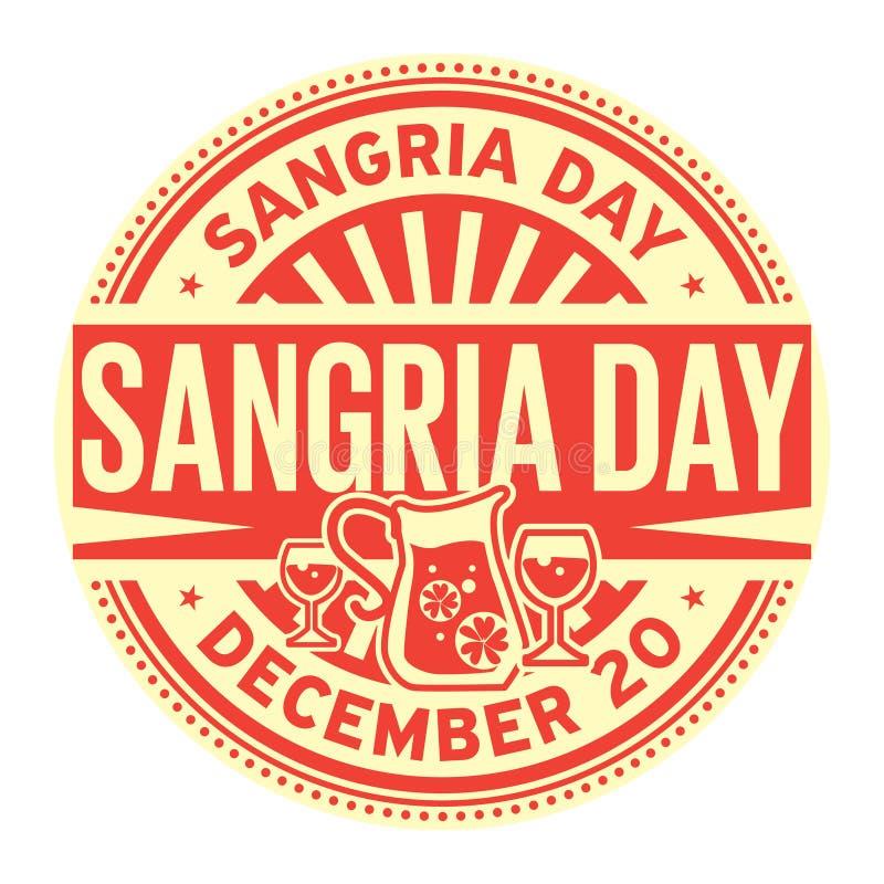 Sangriadag, 20 December, rubberzegel vector illustratie