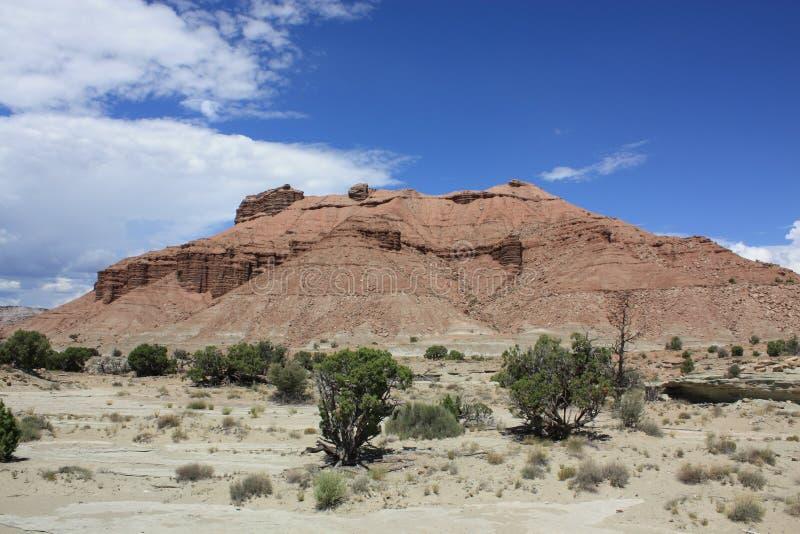 Sangriakromming Mesa, Utah stock foto's