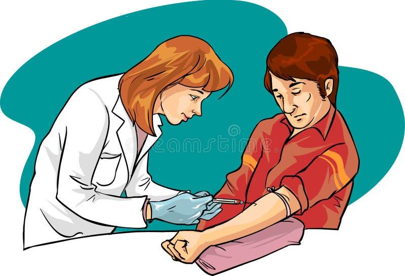 Sangue da un paziente femminile royalty illustrazione gratis