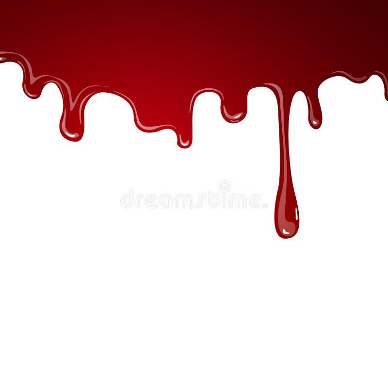 Sangue de fluxo ilustração stock