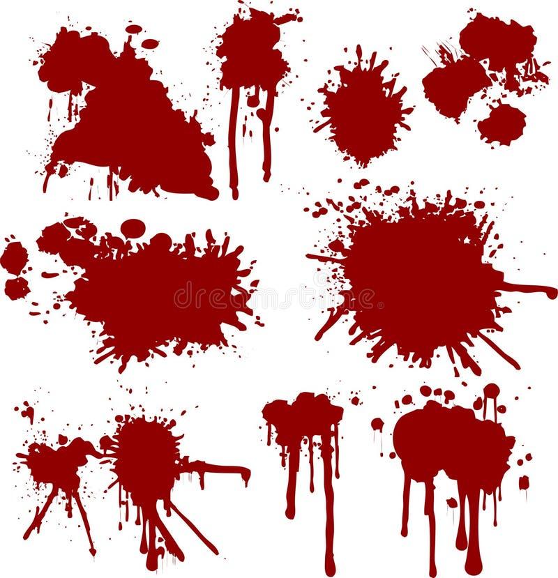 Sangue de Grunge ilustração royalty free