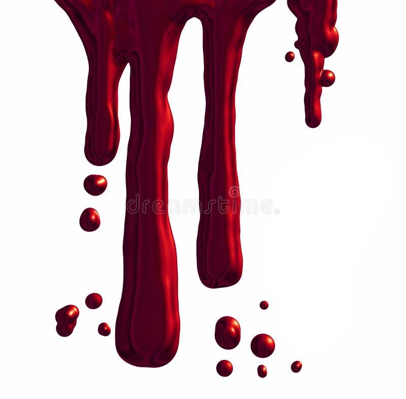 Sangue do gotejamento ilustração stock