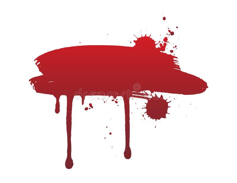 Sangue do gotejamento ou curso vermelho da escova O conceito de Dia das Bruxas, tinta chapinha a ilustração ilustração do vetor