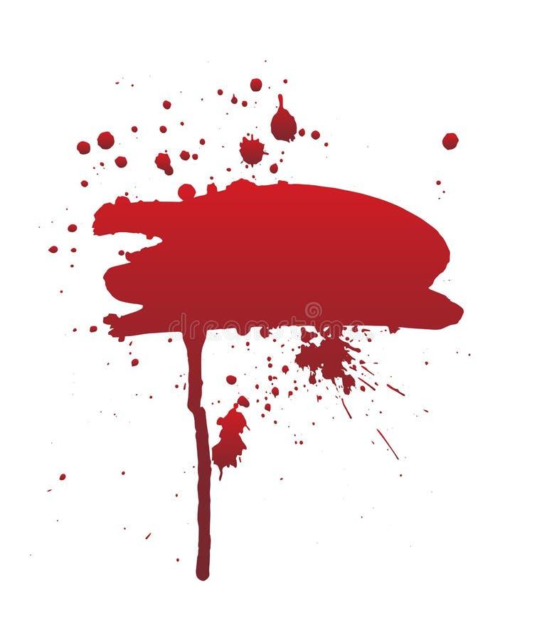 Sangue do gotejamento ou curso vermelho da escova O conceito de Dia das Bruxas, tinta chapinha a ilustração ilustração stock
