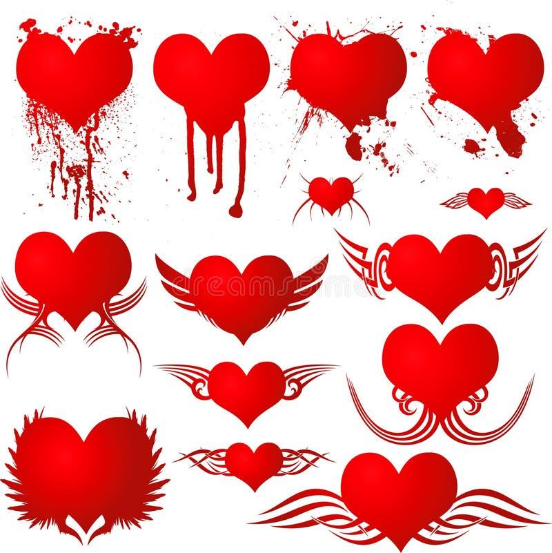 Sangue gótico do coração ilustração stock