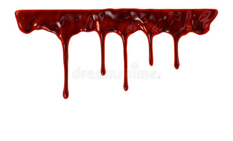 Sangue que goteja para baixo ilustração royalty free