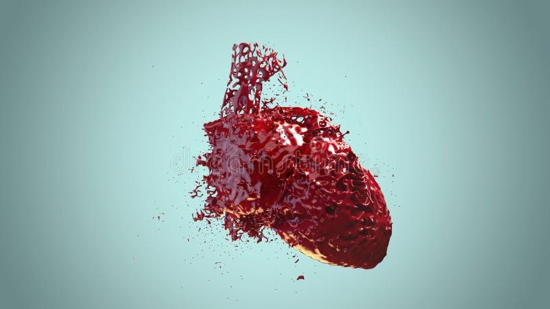 Sangue riempito cuore immagine stock libera da diritti