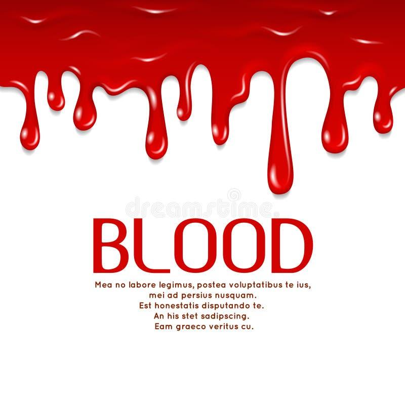 Sangue sem emenda de gotejamento Ilustração do conceito do vetor do horror ilustração do vetor