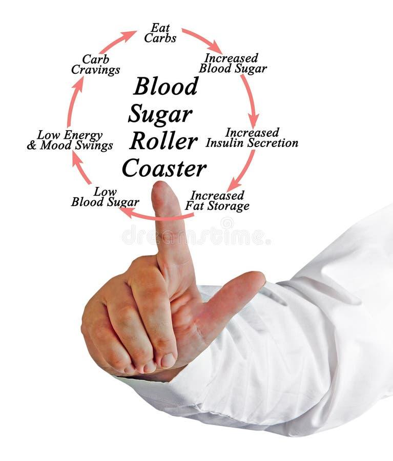 Sangue Sugar Roller Coaster foto de stock royalty free