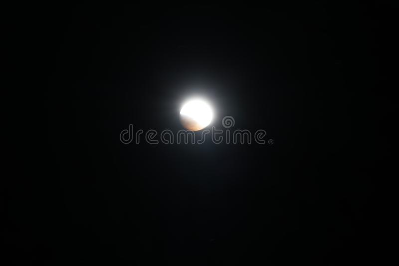 Sangue super Wolf Moon January 2019 7 fotos de stock