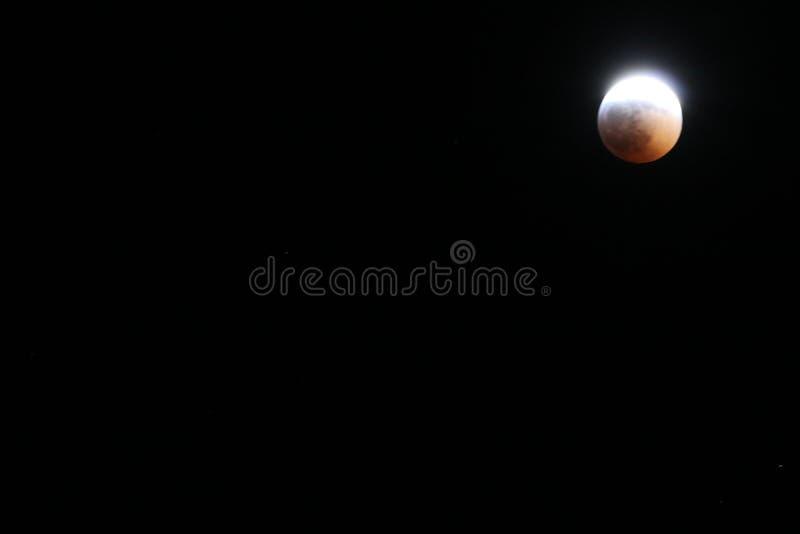 Sangue super Wolf Moon January 2019 4 foto de stock royalty free