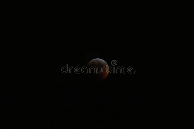 Sangue super Wolf Moon January 2019 2 imagens de stock royalty free