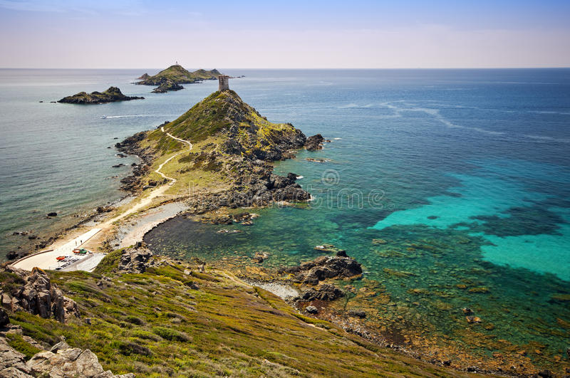 Sanguinaires island. The sanguinaires islands in Corsica - France royalty free stock photo