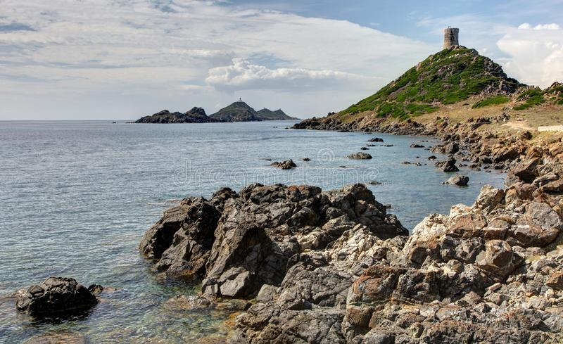 The Sanguinaires islands near Ajaccio in Corsica - France royalty free stock image