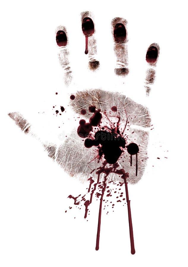 Sanguinante mano-stampi verniciato isolato illustrazione vettoriale