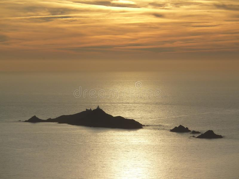 Sanguinary islands in Corsica royalty free stock photos