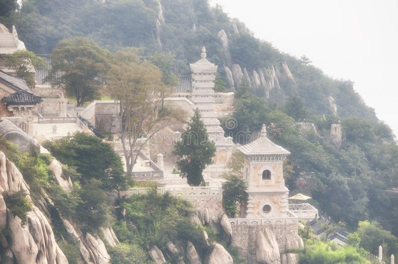 Sanhuang Buddhist Temple Songshan china stock image