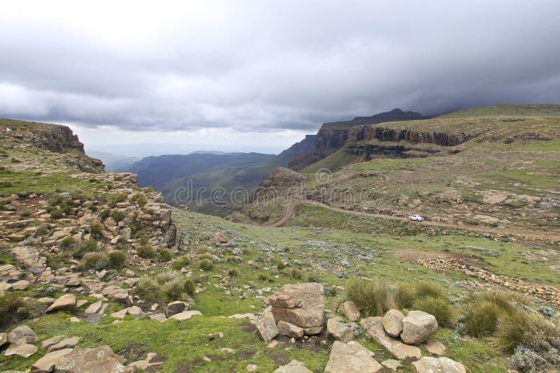Sani通过, Drakensberg 免版税图库摄影