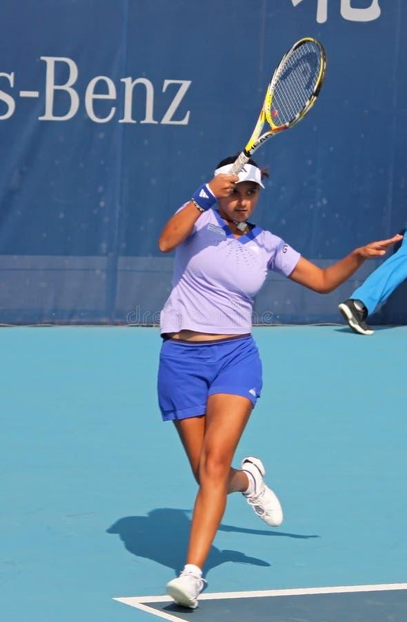 Sania Mirza (Ind), joueur de tennis professionnel photographie stock libre de droits