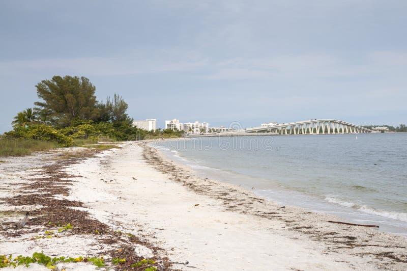 Sanibel海岛海滩,佛罗里达 免版税库存照片