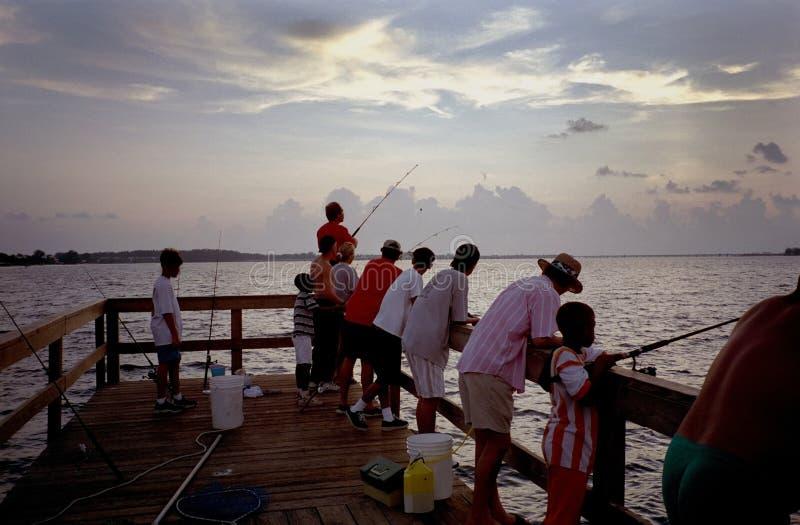 Sanibel Insel-Fischen-Pier stockbild