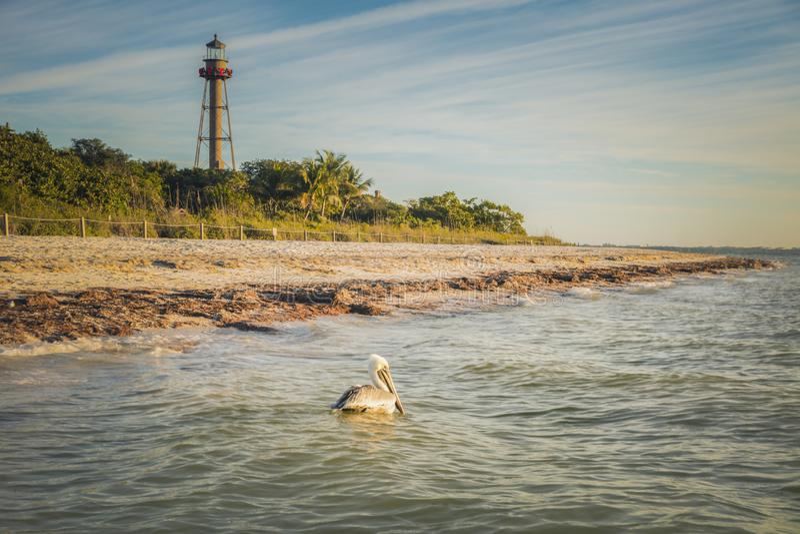 Sanibel Lighthouse royalty-vrije stock foto's