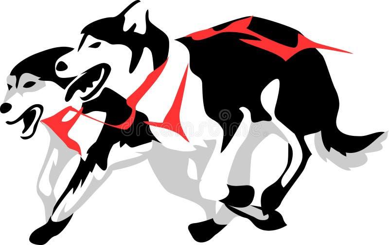 Sanie psy royalty ilustracja