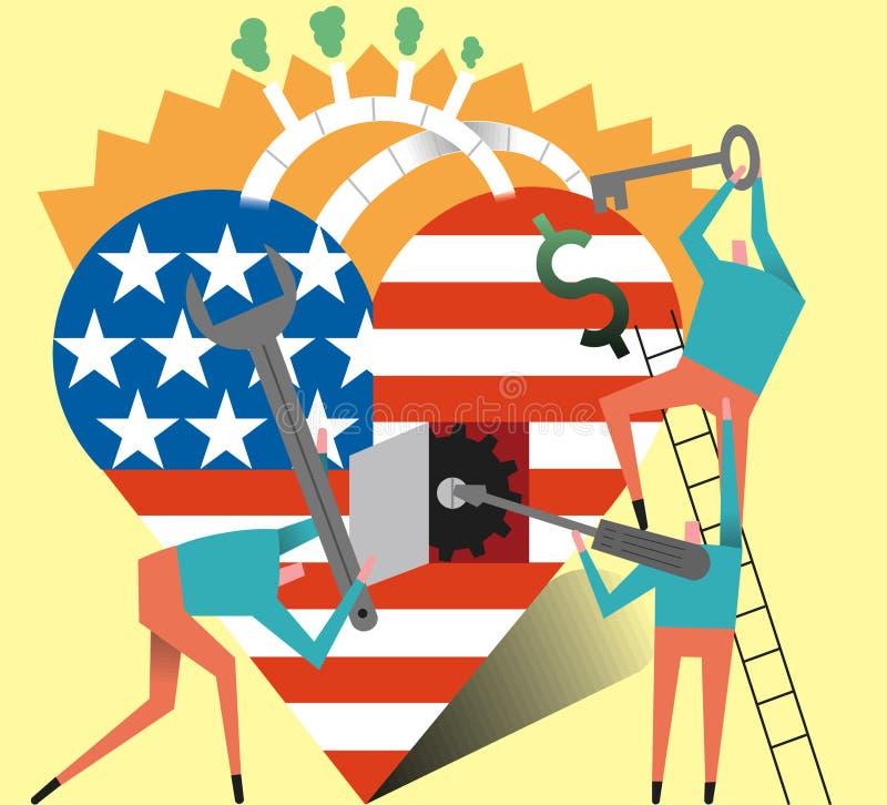 Sanità degli Stati Uniti della riparazione immagini stock libere da diritti