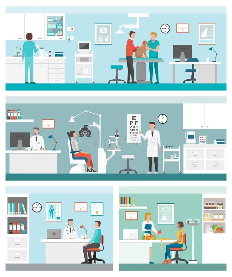 Sanità e cliniche royalty illustrazione gratis