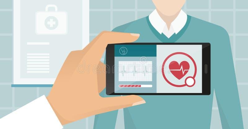 Sanità e tecnologia illustrazione vettoriale