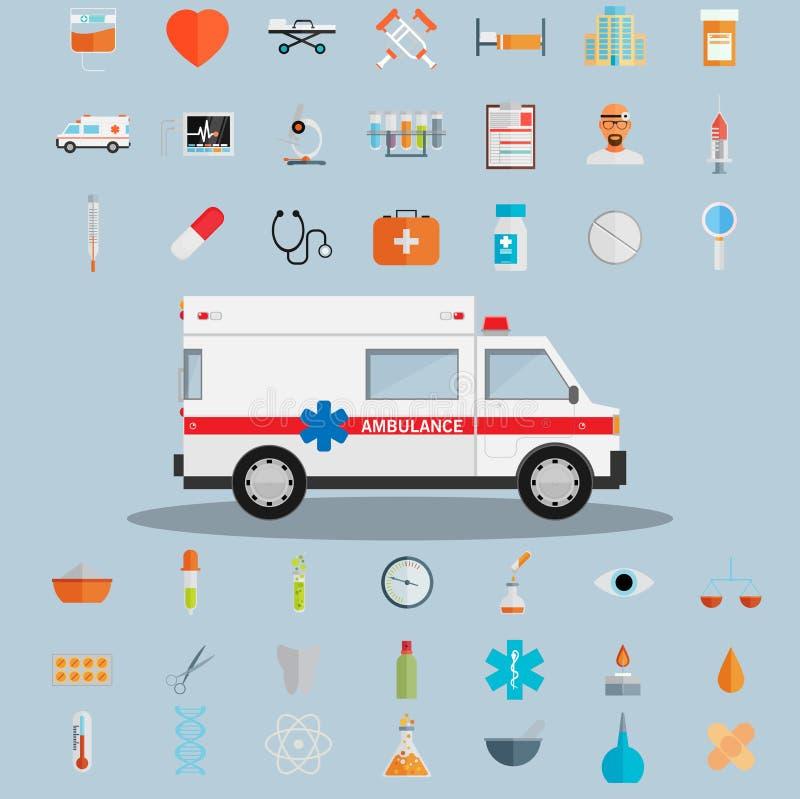 Sanità ed icone mediche royalty illustrazione gratis