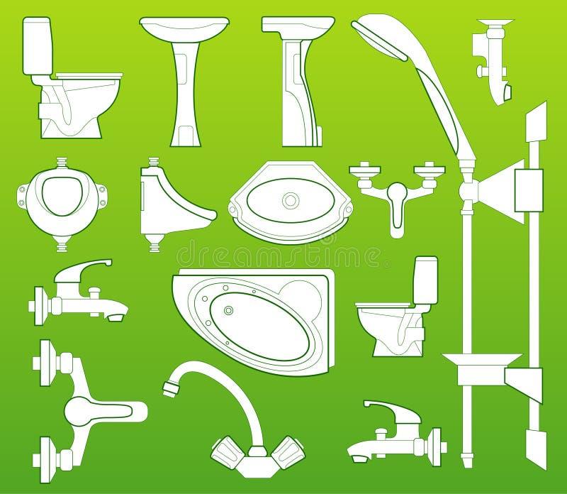 Sanitaire technicus. vector illustratie