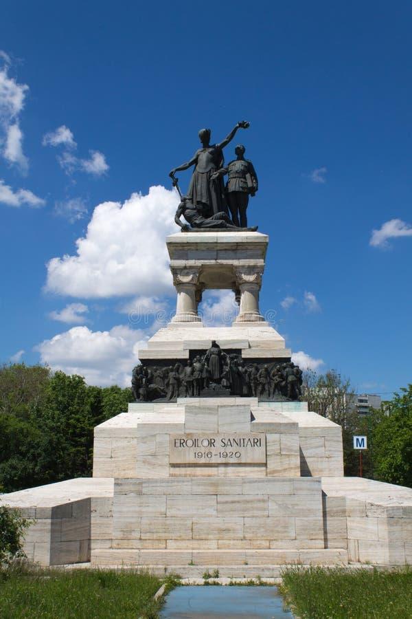 Sanitarni bohaterzy pomnikowi w Bucharest zdjęcia royalty free