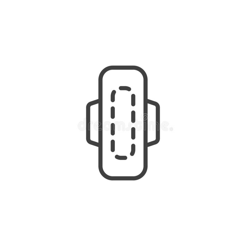 Sanitary Napkin line icon vector illustration