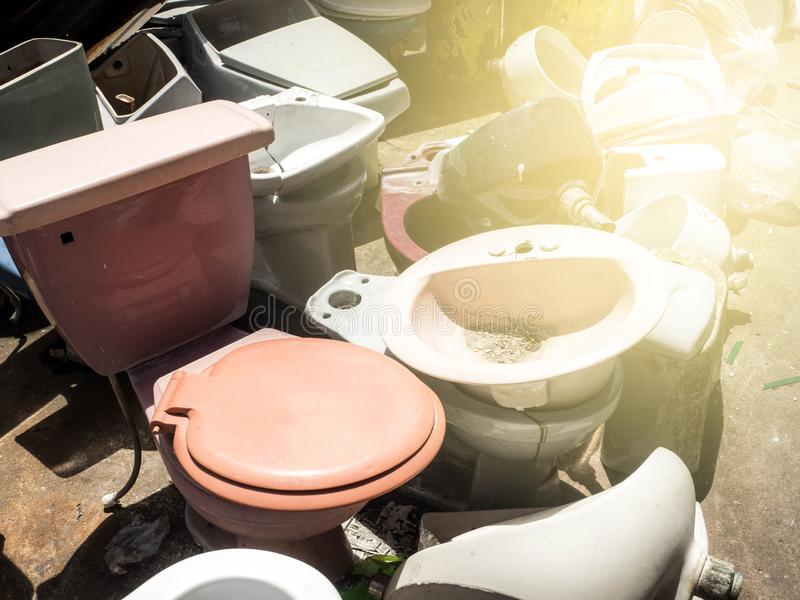 Sanitary ware is not used by many people.  stock photography