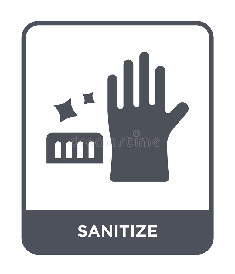 sanitize icon in trendy design style. sanitize icon isolated on white background. sanitize vector icon simple and modern flat royalty free illustration