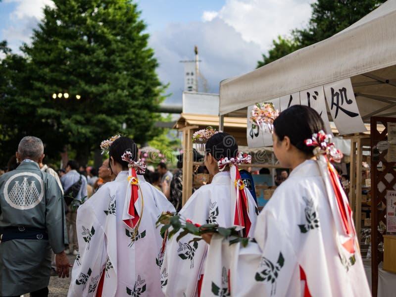 SANJA MATSURI ein traditionelles Ereignis in Tokyo stockfotos