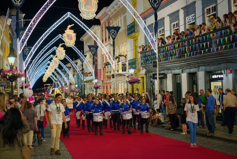 Sanjoaninas-Festlichkeiten, Angra tun Heroismo, Terceira-Insel, AZO lizenzfreie stockfotos