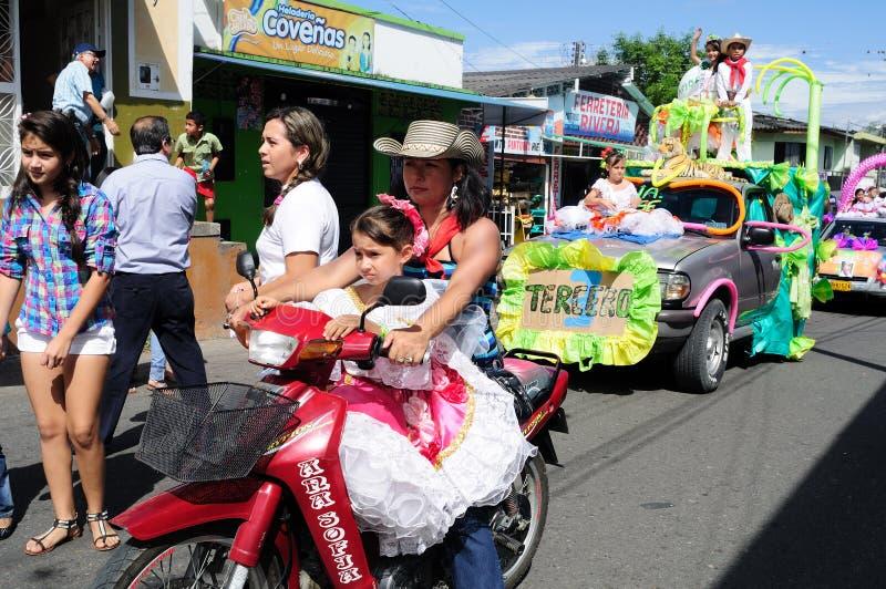 Sanjuanero节日-里维拉哥伦比亚 图库摄影