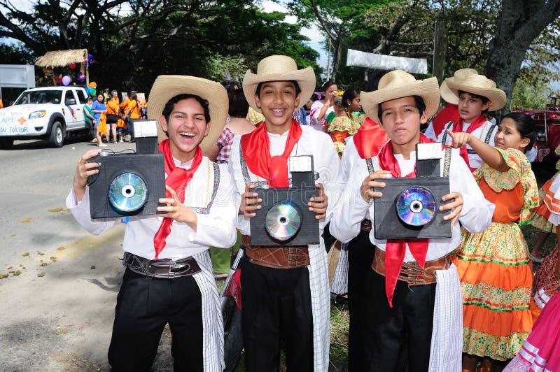 Sanjuanero Huilense节日-哥伦比亚 库存照片