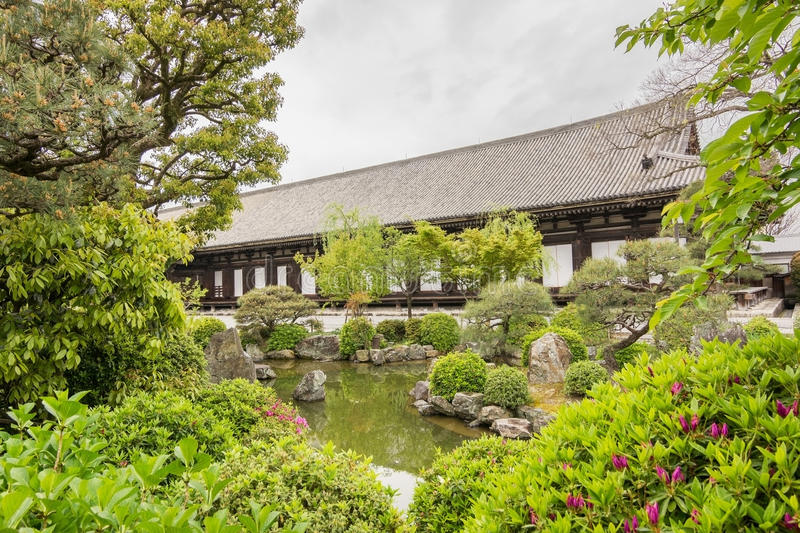Sanjusangendo. Architecture of Sanjusangendo which is famous for its 1001 statues of Kannon, the goddess of mercy in Kyoto, Japan stock photos