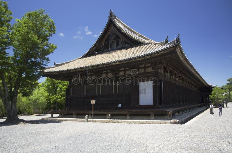 Sanjusangendo Temple in Kyoto, Japan. Main Hall of Sanjusangendo Buddhist Temple in Kyoto, Japan, during nice summer day royalty free stock photos