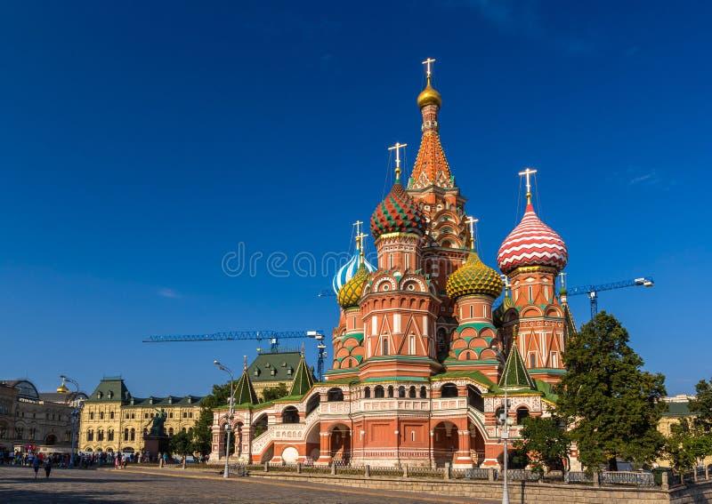 Sanka basilikas domkyrka i den röda fyrkanten - Moskva arkivbilder