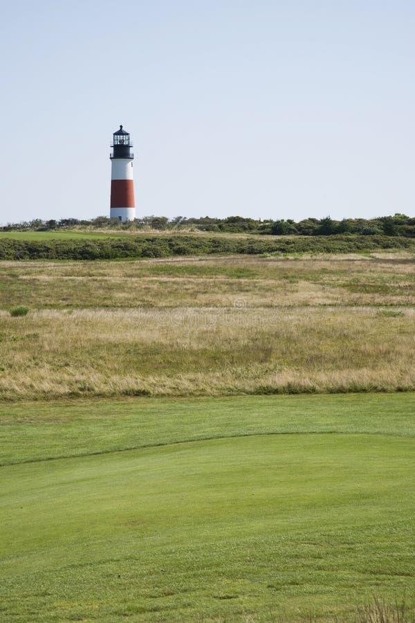 sankaty head fyr för golf fotografering för bildbyråer