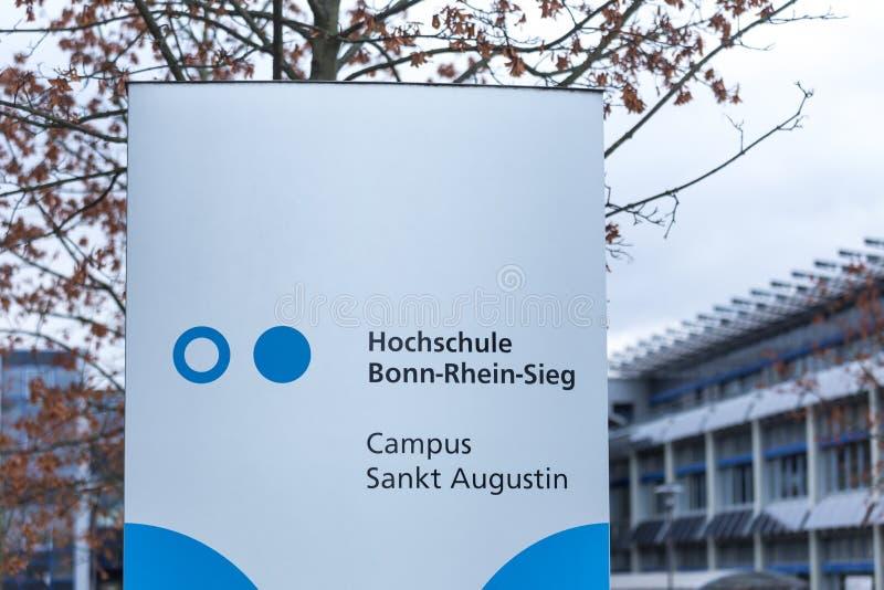 Sankt Augustin, Nordrhein-Westfalen/Deutschland - 09 11 18: sieg Bonns Rhein Universität im sankt Augustin Deutschland stockfotografie